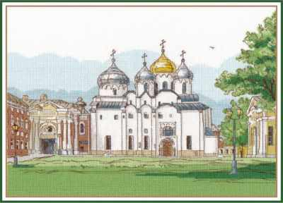 Набор для вышивания Овен 1219 Софийский собор. Великий Новгород