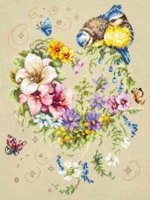 Набор для вышивания Чудесная игла 100-142 Мелодия сердца 1872 романтик чудесная игла чудесная игла
