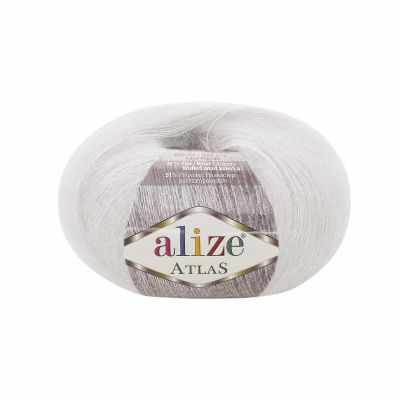 Пряжа Alize Atlas Цвет.55 белый
