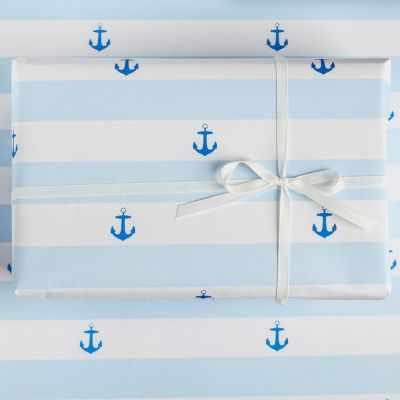 Бумага для упаковки подарков Дарите Счастье 3949126 Бумага упаковочная крафтовая «Море»