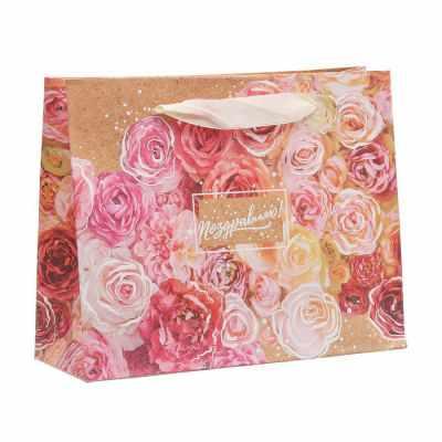 цена на Подарочный конверт Дарите Счастье 3680769 Пакет крафтовый подарочный «Поздравляю»