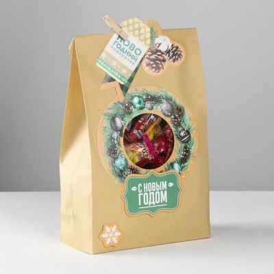 Подарочный конверт Дарите Счастье 4359191 Пакет подарочный «Новогодний подарочек», набор для создания