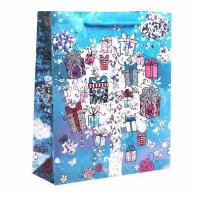 Подарочный конверт Дарите Счастье 1857246 Пакет подарочный голография вертикальный «Подарочки»
