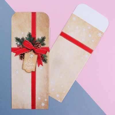 Фото - Подарочный конверт Дарите Счастье 4439891 Конверт подарочный «С Новым Годом» коробка трансформер подарочная дарите счастье с новым годом 13 х 9 х 5 см