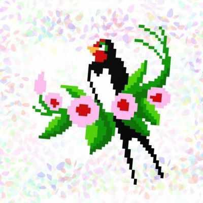 Флизелин с рисунком Confetti K133 Ласточка