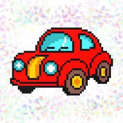 Флизелин с рисунком Confetti K131 Машина