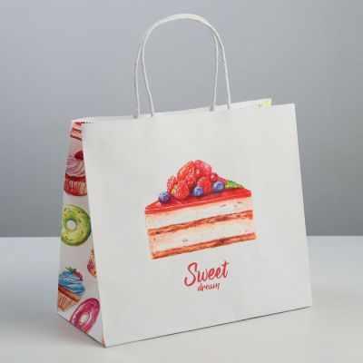 Подарочный конверт Дарите Счастье 3823496 Пакет подарочный крафт Sweet dream пакет подарочный крафт 26 32 13 см бумага
