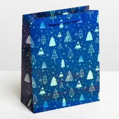 Подарочный конверт Дарите Счастье 4205711 Пакет подарочный голография вертикальный «Ёлки» ваза дарите счастье от всей души 3837490 прозрачный синий