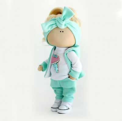 Набор для изготовления игрушки Арт ткани Набор для шитья текстильной куклы Вики