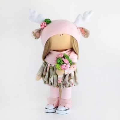 Набор для изготовления игрушки Арт ткани Набор для шитья текстильной куклы Оленёнок Диана