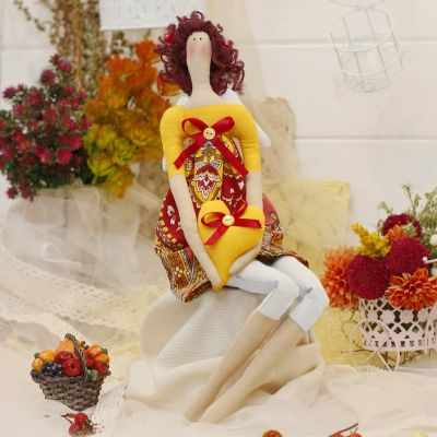 Набор для изготовления игрушки HappyMade Ш128 Набор для шитья и рукоделия Ангелочек Белла
