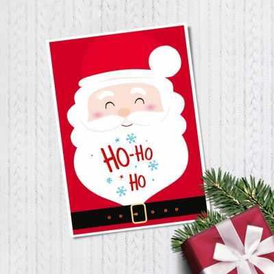Открытка Дарите Счастье 3634978 Открытка на каждый день С Новым Годом! хо‒хо