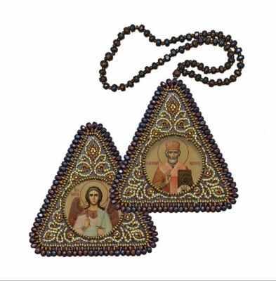 Набор для вышивания Nova Sloboda ТР 1003 Св. Николай Чудотворец и Ангел Хранитель