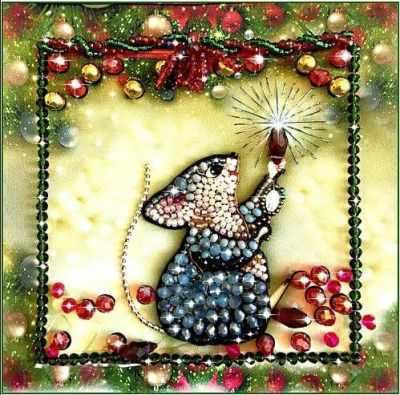 Набор для вышивания иконы Образа в каменьях 5542 Мышка-соберушка