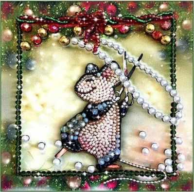 Набор для вышивания иконы Образа в каменьях 5543 Мышка-шалунишка