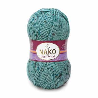 Пряжа Nako Пряжа Nako Vega Tweed Цвет.31755 Бирюзовый