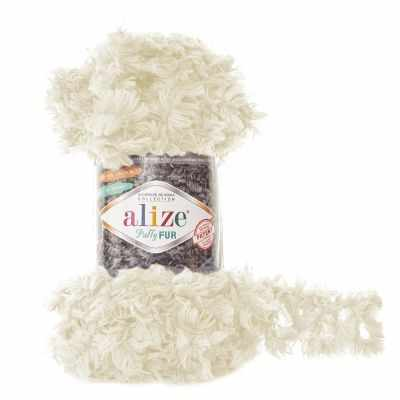 Пряжа Alize Пряжа Alize Puffy Fur Цвет.6113 Экрю