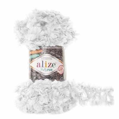 Пряжа Alize Пряжа Alize Puffy Fur Цвет.6100 Отбелка