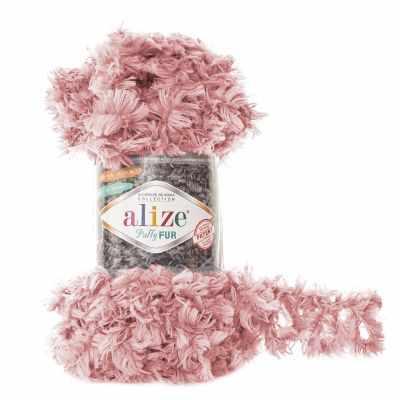 Пряжа Alize Пряжа Alize Puffy Fur Цвет.6102 Нежно-розовый