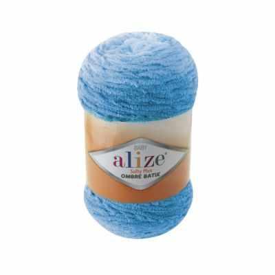 Пряжа Alize Пряжа Alize Softy Plus Ombre Batik Цвет.7281