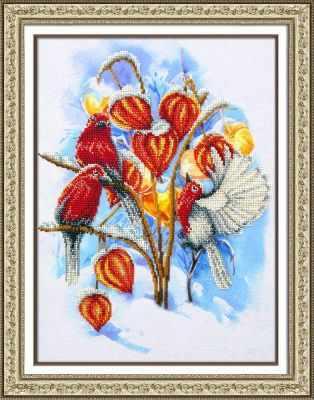 Набор для вышивания Паутинка Б-1475 Физалис в снегу