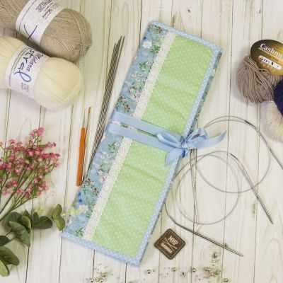 Аксессуар для вязания - Органайзер для спиц и крючков. Полевые цветы