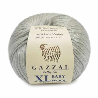 Пряжа GAZZAL Пряжа GAZZAL Baby Wool XL Цвет.817XL Серый