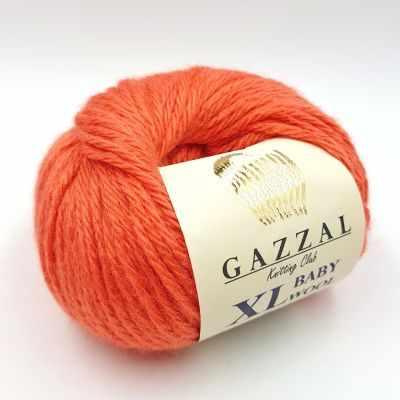 Пряжа GAZZAL Пряжа GAZZAL Baby Wool XL Цвет.819XL Морковный