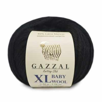 Пряжа GAZZAL Пряжа GAZZAL Baby Wool XL Цвет.803XL Черный