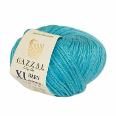 Пряжа GAZZAL Пряжа GAZZAL Baby Wool XL Цвет.820XL Бирюзовый