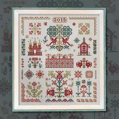 Набор для вышивания OwlForest 0012-РМ-НЗ6 Русские мотивы праздничные мотивы набор карточек подробные схемы