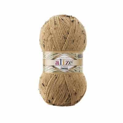 Пряжа Alize Пряжа Alize Alpaca Tweed Цвет.262 Светло бежевый