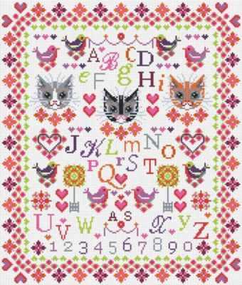 Набор для вышивания RIVERDRIFT House RR093 Cats and Birds