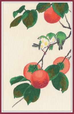 Набор для вышивания Овен 1265 Белоглазки на хурме