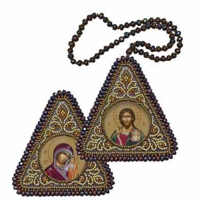 Набор для вышивания Nova Sloboda ТР 1001 Христос Спаситель и Богородица Казанская