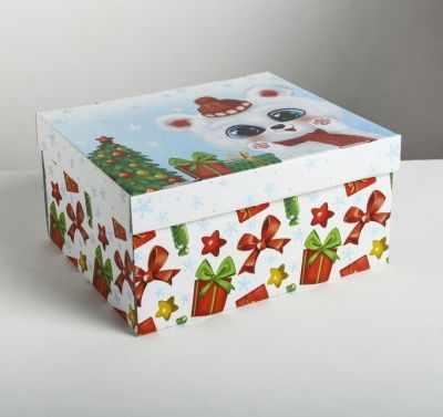 Подарочная коробка Дарите Счастье 4410576 Складная коробка «Радости и веселья»