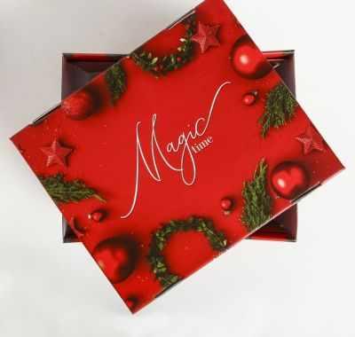 Подарочная коробка Дарите Счастье 4410578 Складная коробка Magic time коробка яркие игрушки magic home