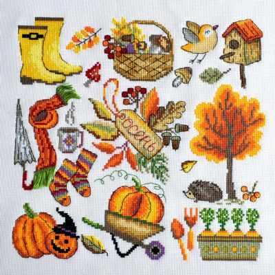 Набор для вышивания Марья искусница 11.002.24 Осень канва для вышивания zweigart linda schulertuch цвет бежевый 50 х 70 см 1235 264