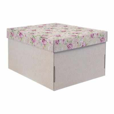 Подарочная коробка Дарите Счастье 2640215 Складная коробка «Уютный шебби»