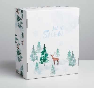 Подарочная коробка Дарите Счастье 4410566 Складная коробка «Лесная сказка»