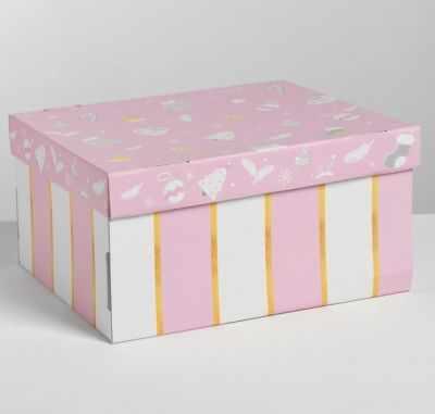 Подарочная коробка Дарите Счастье 4410574 Складная коробка «Нежность»