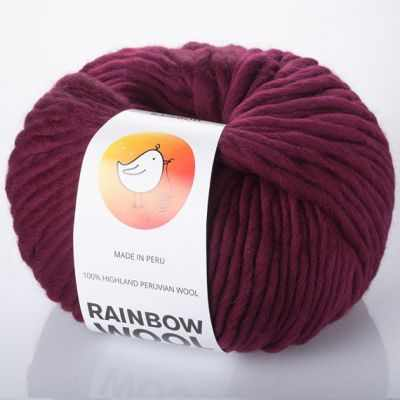 Пряжа RAINBOW BIRD Пряжа RAINBOW BIRD RAINBOW WOOL Цвет.Maroon