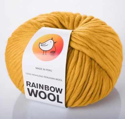 rainbow Пряжа RAINBOW BIRD Пряжа RAINBOW BIRD RAINBOW WOOL Цвет.Mustard