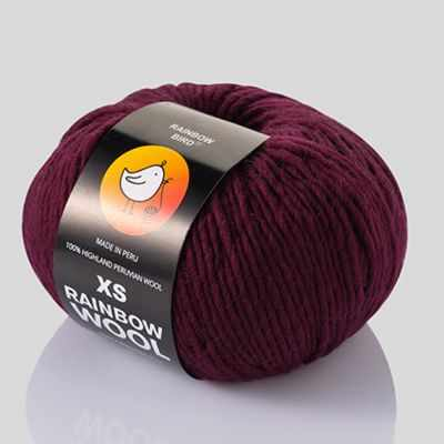 Пряжа RAINBOW BIRD XS WOOL Цвет.Maroon