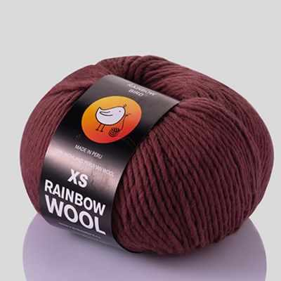 Пряжа RAINBOW BIRD XS WOOL Цвет.Rouge