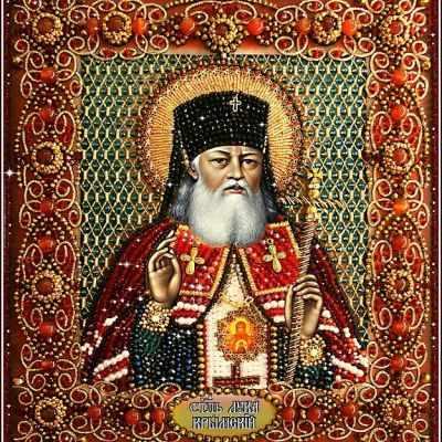 Набор для вышивания иконы Образа в каменьях 7756 Святитель Лука Крымский