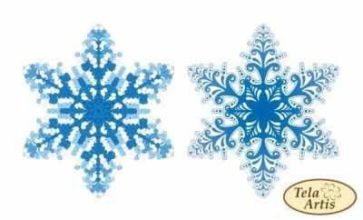 Основа для вышивания с нанесённым рисунком Tela Artis ВЛ-001 - Снежинка - схема (Tela Artis)