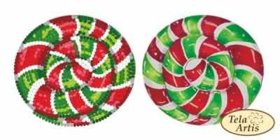 Основа для вышивания с нанесённым рисунком Tela Artis ВЛ-007 - Леденец красно-зеленый - схема (Tela Artis)