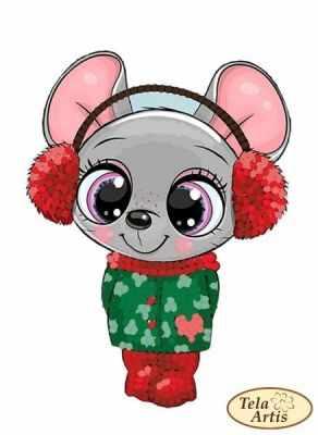 Основа для вышивания с нанесённым рисунком Tela Artis ВЛ-018 - Мышка малышка - схема (Tela Artis)