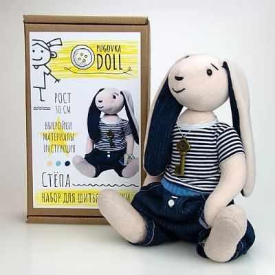 Набор для изготовления игрушки Pugovka Doll Набор для изготовления кукол Зайка Степа набор для изготовления игрушки милота набор для изготовления кукол амели